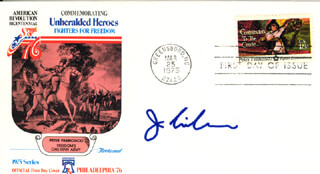 JOSEPH LIEBERMAN - FIRST DAY COVER SIGNED