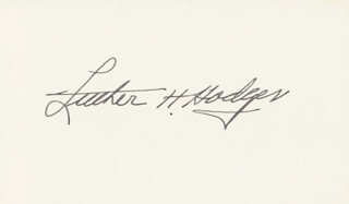 LUTHER H. HODGES - AUTOGRAPH  - HFSID 26715