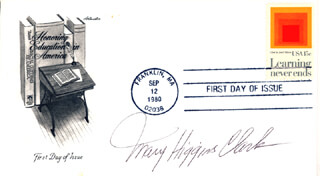 MARY HIGGINS CLARK - FIRST DAY COVER SIGNED