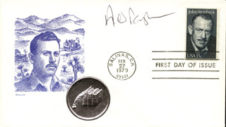 ANDREW BERGMAN - FIRST DAY COVER SIGNED