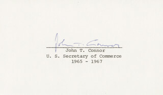 Autographs: JOHN T. CONNOR - SIGNATURE(S)