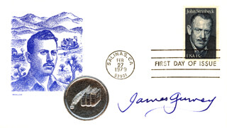 JAMES GURNEY - FIRST DAY COVER SIGNED