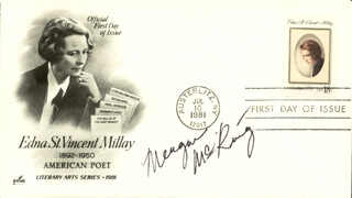 MEAGAN McKINNEY - FIRST DAY COVER SIGNED