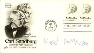 ROD MCKUEN - FIRST DAY COVER SIGNED
