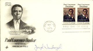 JOSEPH A. WAMBAUGH JR. - FIRST DAY COVER SIGNED