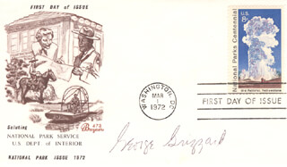 GEORGE GRIZZARD - FIRST DAY COVER SIGNED