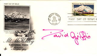 DAVID GRIFFIN - FIRST DAY COVER SIGNED