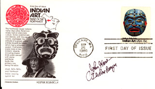 JOHN HART - FIRST DAY COVER SIGNED