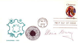 GLORIA HENRY - FIRST DAY COVER SIGNED