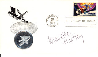 MARIETTE HARTLEY - FIRST DAY COVER SIGNED