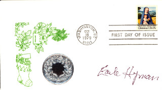EARLE HYMAN - FIRST DAY COVER SIGNED