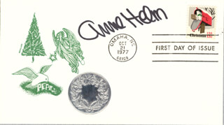 ANNE HELM - FIRST DAY COVER SIGNED