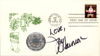 JOY HARMON - FIRST DAY COVER WITH AUTOGRAPH SENTIMENT SIGNED