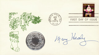MARY HEALY - FIRST DAY COVER SIGNED