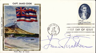 FRANCIS MATTHEWS - FIRST DAY COVER SIGNED