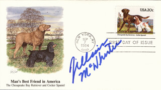JILLIAN MCWHIRTER - FIRST DAY COVER SIGNED