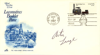 ARTIE LANGE - FIRST DAY COVER SIGNED