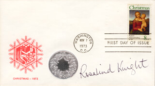 ROSALIND KNIGHT - FIRST DAY COVER SIGNED