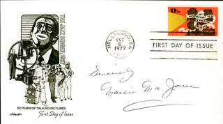 MARCIA MAE JONES - FIRST DAY COVER WITH AUTOGRAPH SENTIMENT SIGNED