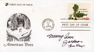 MARY ANN JACKSON - FIRST DAY COVER SIGNED