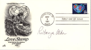 RUTANYA ALDA - FIRST DAY COVER SIGNED