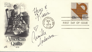 CAMILLE ANDERSON - FIRST DAY COVER WITH AUTOGRAPH SENTIMENT SIGNED