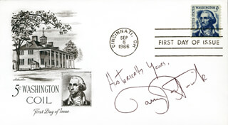 BARRY BOSTWICK - FIRST DAY COVER WITH AUTOGRAPH SENTIMENT SIGNED