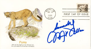 MICHAEL MICKEY CALIN CALLAN - FIRST DAY COVER WITH AUTOGRAPH SENTIMENT SIGNED
