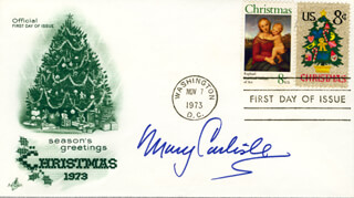 MARY CARLISLE - FIRST DAY COVER SIGNED