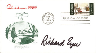 RICHARD EYER - FIRST DAY COVER SIGNED
