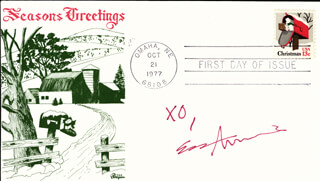 EVA AMURRI - FIRST DAY COVER WITH AUTOGRAPH SENTIMENT SIGNED