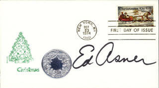 ED ASNER - FIRST DAY COVER SIGNED