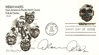 ALAN ALDA - FIRST DAY COVER SIGNED