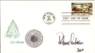 RICHARD ANDERSON - FIRST DAY COVER SIGNED 2003