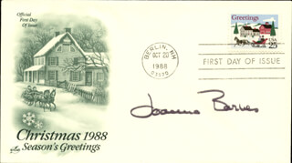 JOANNA BARNES - FIRST DAY COVER SIGNED