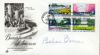 BARBARA BARRIE - FIRST DAY COVER SIGNED