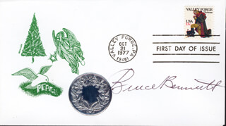 BRUCE (HERMAN BRIX) BENNETT - FIRST DAY COVER SIGNED