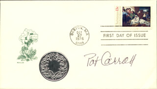 PAT CARROLL - FIRST DAY COVER SIGNED