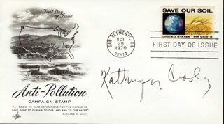 KATHRYN GRANT CROSBY - FIRST DAY COVER SIGNED
