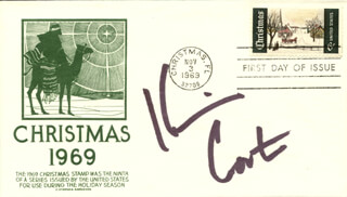 KEVIN COSTNER - FIRST DAY COVER SIGNED