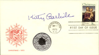 KITTY CARLISLE - FIRST DAY COVER SIGNED