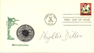PHYLLIS DILLER - FIRST DAY COVER SIGNED
