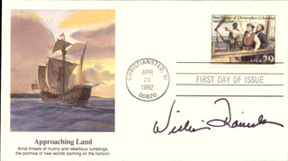 WILLIAM DANIELS - FIRST DAY COVER SIGNED