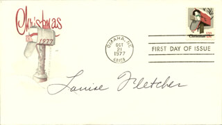 LOUISE FLETCHER - FIRST DAY COVER SIGNED