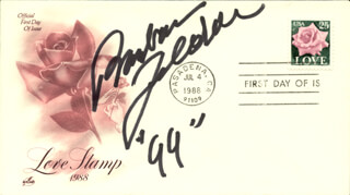 BARBARA FELDON - FIRST DAY COVER SIGNED