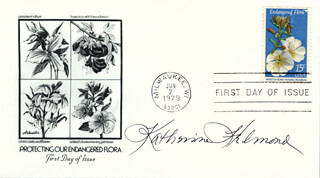 KATHERINE HELMOND - FIRST DAY COVER SIGNED
