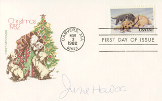 JUNE HAVOC - FIRST DAY COVER SIGNED