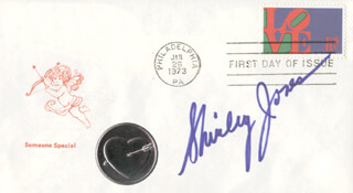 SHIRLEY JONES - FIRST DAY COVER SIGNED