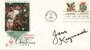JANE KACZMAREK - FIRST DAY COVER SIGNED