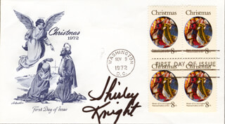 SHIRLEY KNIGHT - FIRST DAY COVER SIGNED